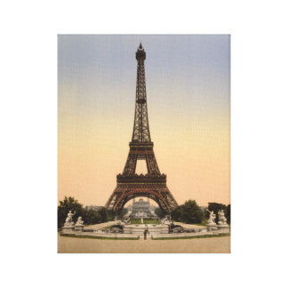 Eiffel Tower Paris, Exposition Universal 1900 Canvas Print