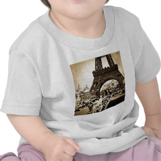 Eiffel Tower Paris Exposition Universelle Tee Shirts