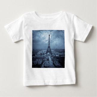 Eiffel Tower Paris France 1900 Blue Toned T-shirt
