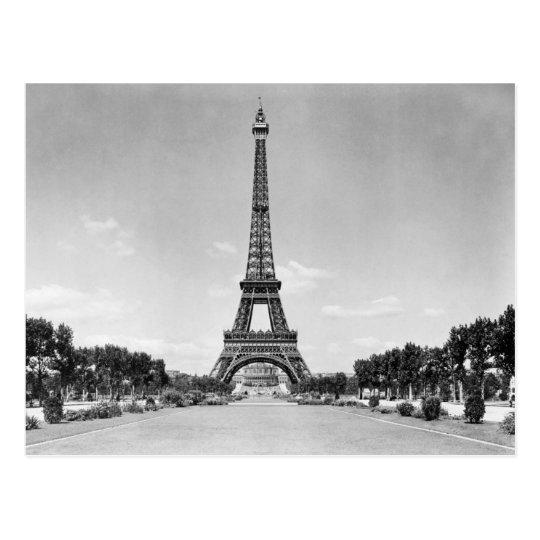 Eiffel Tower, Paris France 1909 Postcard