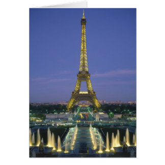 Eiffel Tower, Paris, France 2 Card