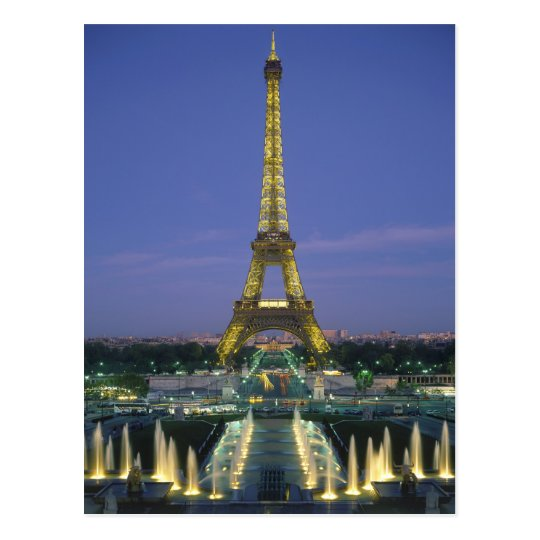 Eiffel Tower, Paris, France 2 Postcard