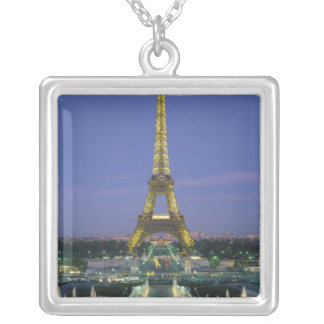 Eiffel Tower, Paris, France 2 Silver Plated Necklace