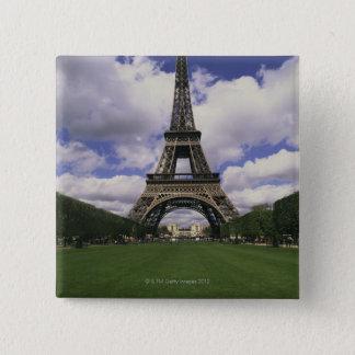 Eiffel Tower, Paris, France 3 15 Cm Square Badge