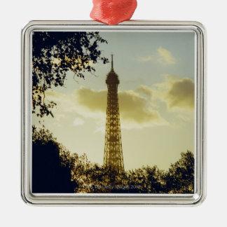 Eiffel Tower, Paris, France 4 Christmas Ornament