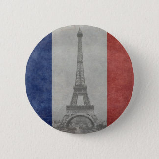 Eiffel tower, Paris France 6 Cm Round Badge