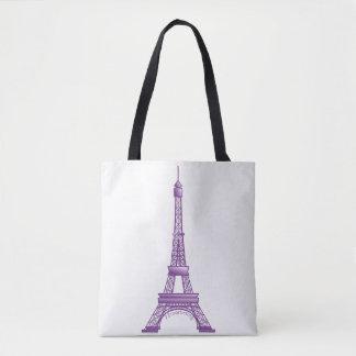 Eiffel Tower Paris France Bag Purple
