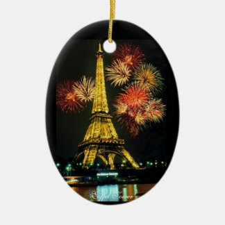 Eiffel Tower, Paris France Christmas Ornament