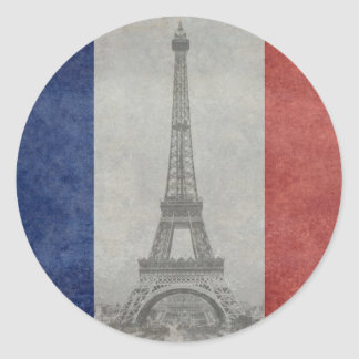 Eiffel tower, Paris France Classic Round Sticker