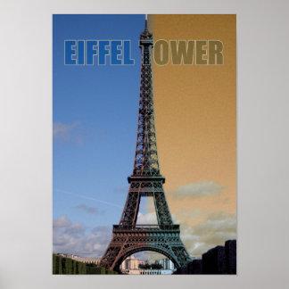 Eiffel Tower Paris France Europe Big City Poster