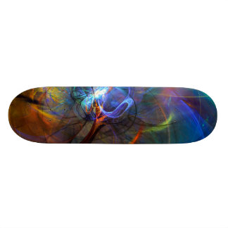 Eiffel Tower,Paris, France inspired Abstract Art Skate Board
