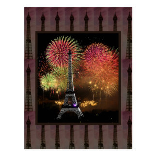 EIFFEL TOWER Paris France Landmark Photography tow Postcard