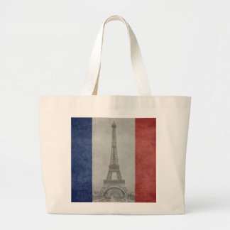 Eiffel tower, Paris France Large Tote Bag