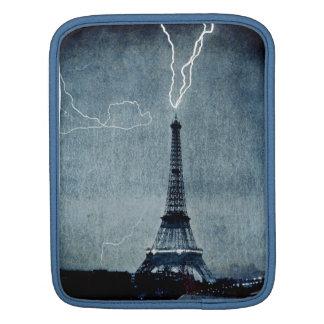 Eiffel Tower Paris France - Lightning strike 1902 iPad Sleeves