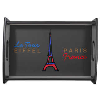 Eiffel Tower Paris France Serving Platter