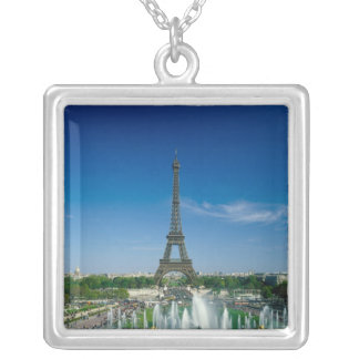 Eiffel Tower, Paris, France Silver Plated Necklace