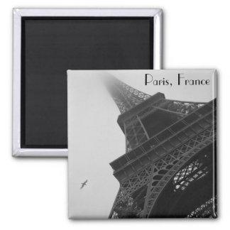 Eiffel Tower Paris France Square Magnet