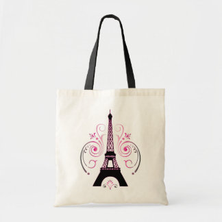 Eiffel Tower Paris Graphic Design Tote Budget Tote Bag