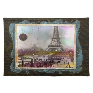 Eiffel Tower Paris in 1880s Custom Placemats