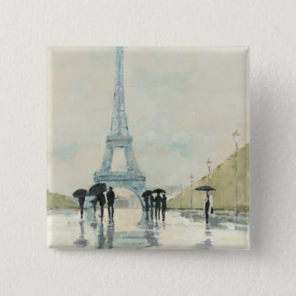 Eiffel Tower | Paris In The Rain 15 Cm Square Badge