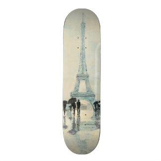 Eiffel Tower | Paris In The Rain 19.7 Cm Skateboard Deck