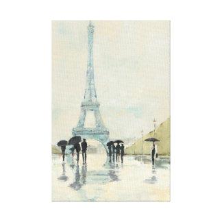 Eiffel Tower | Paris In The Rain Canvas Print