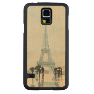 Eiffel Tower | Paris In The Rain Carved Maple Galaxy S5 Case