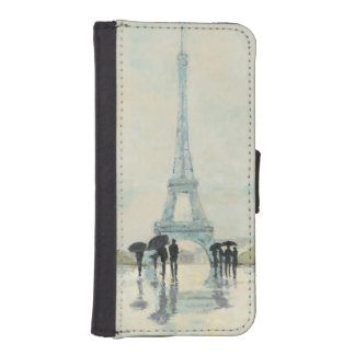 Eiffel Tower | Paris In The Rain iPhone SE/5/5s Wallet Case