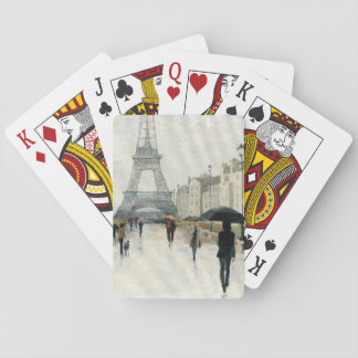 Eiffel Tower | Paris In The Rain Poker Deck