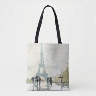 Eiffel Tower | Paris In The Rain Tote Bag