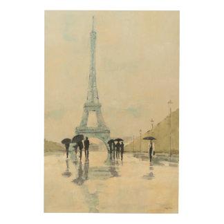 Eiffel Tower | Paris In The Rain Wood Wall Art