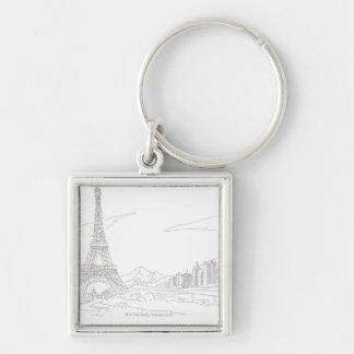 Eiffel Tower, Paris Key Ring