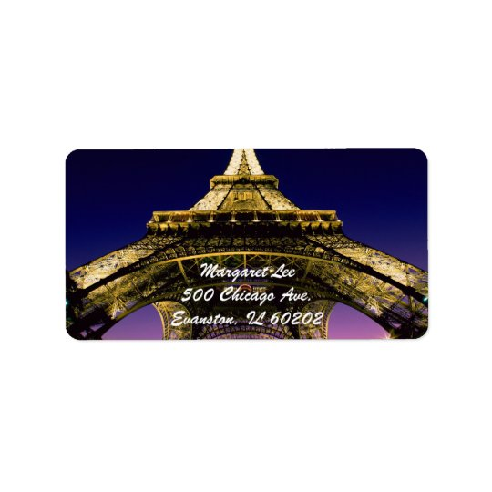Eiffel-Tower-Paris label Address Label