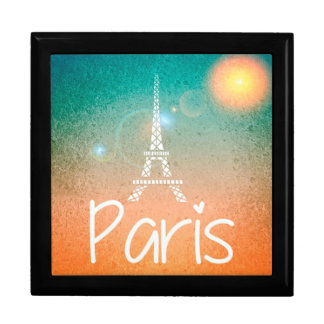 Eiffel Tower Paris Large Square Gift Box