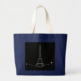 Eiffel Tower Paris Large Tote Bag