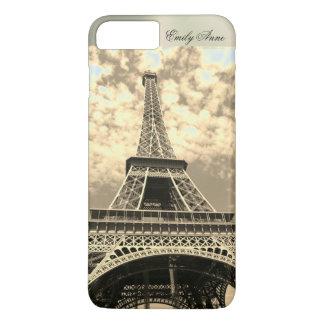 Eiffel Tower Paris Metal Name iPhone Case Vintage