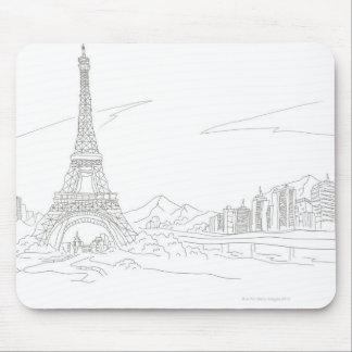 Eiffel Tower, Paris Mouse Mat