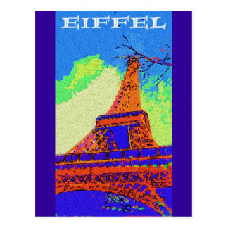 Eiffel Tower, Paris Postcard