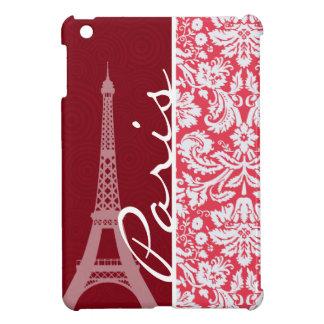 Eiffel Tower, Paris, Red Damask iPad Mini Case