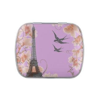 Eiffel Tower Paris romantic candy tin