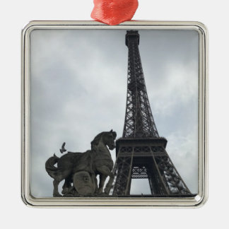 Eiffel Tower, Paris Silhouette Holiday Ornament