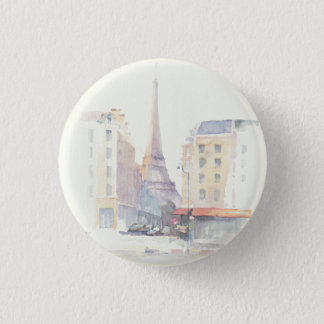 Eiffel Tower | Paris Watercolor 3 Cm Round Badge