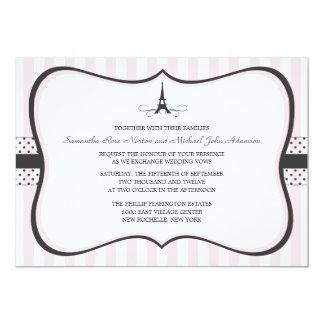 Eiffel Tower Paris Wedding Card