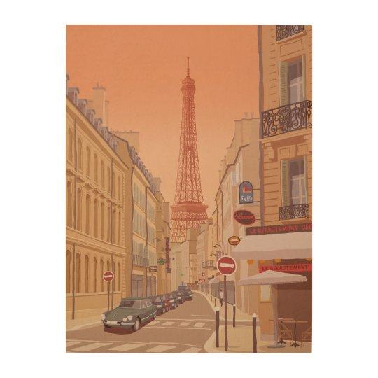Eiffel Tower Paris Wood Wall Art