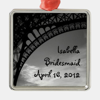 Eiffel Tower Personalized Bridesmaid Ornament