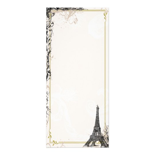 Eiffel Tower Photo Card