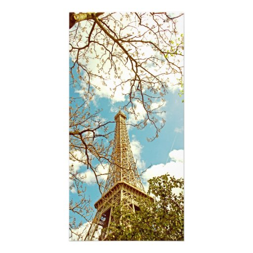 Eiffel tower personalized photo card