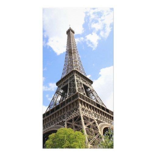 Eiffel tower custom photo card