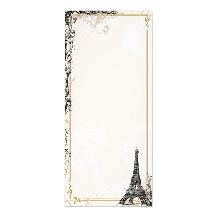 Eiffel Tower Photo Card Full Color Rack Card