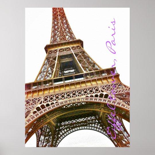 Eiffel tower photo illustration. poster